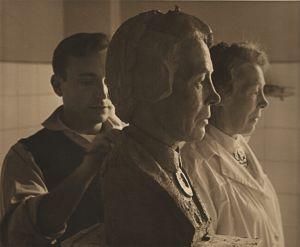 Trabajando en el busto de Anne Grindalen
