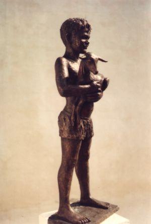Niño con chivito