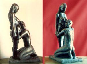Adan y Eva embarazada